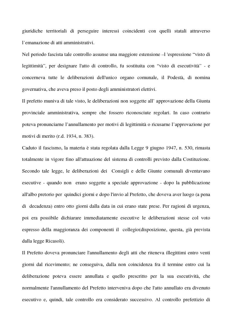 Anteprima della tesi: Il sistema dei controlli sui comuni, Pagina 7