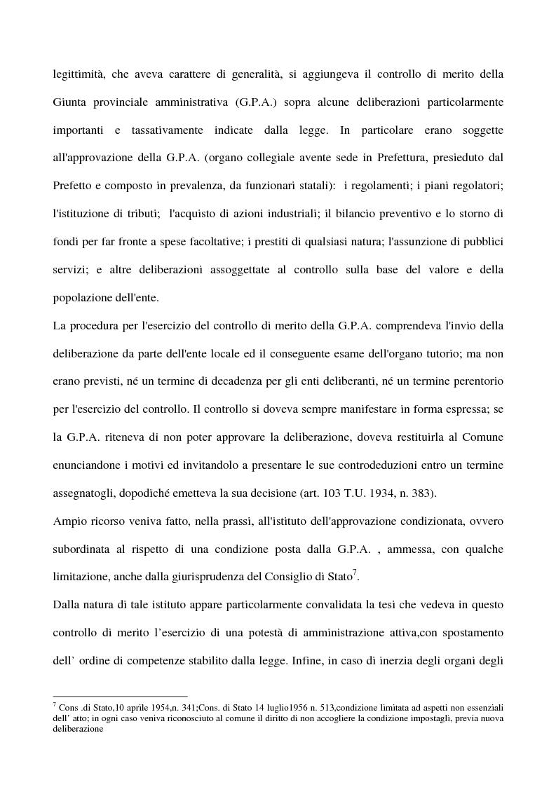 Anteprima della tesi: Il sistema dei controlli sui comuni, Pagina 8