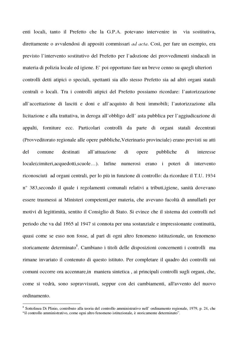 Anteprima della tesi: Il sistema dei controlli sui comuni, Pagina 9