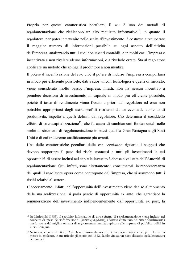 Anteprima della tesi: La Regolamentazione dei servizi di pubblica utilità: valutazioni contabili e finanziarie, Pagina 13