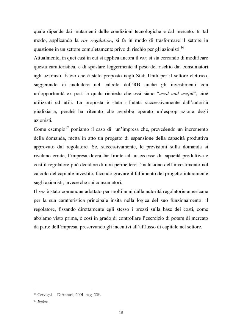 Anteprima della tesi: La Regolamentazione dei servizi di pubblica utilità: valutazioni contabili e finanziarie, Pagina 14