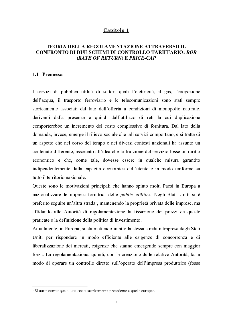 Anteprima della tesi: La Regolamentazione dei servizi di pubblica utilità: valutazioni contabili e finanziarie, Pagina 4