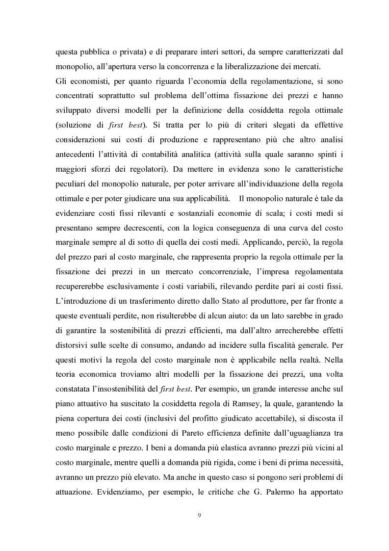 Anteprima della tesi: La Regolamentazione dei servizi di pubblica utilità: valutazioni contabili e finanziarie, Pagina 5