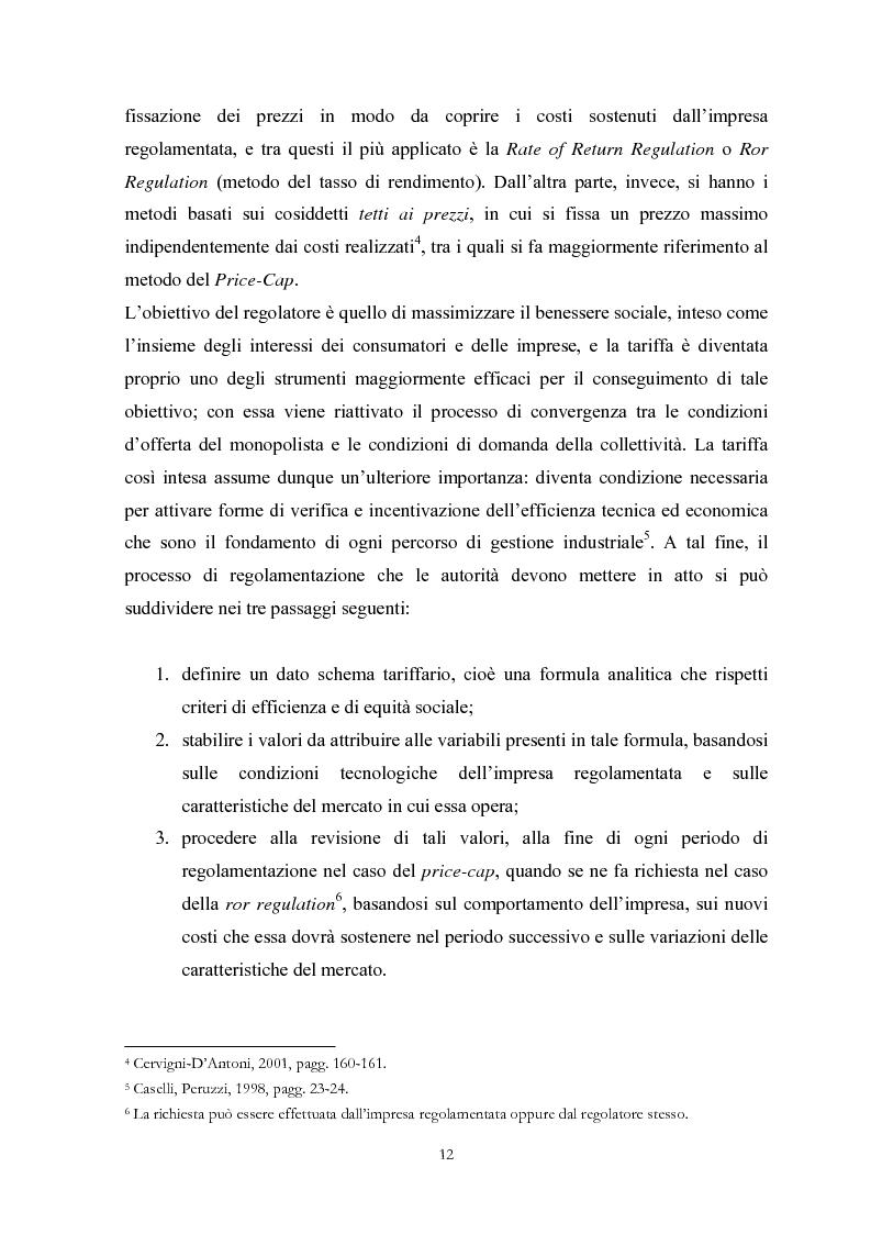 Anteprima della tesi: La Regolamentazione dei servizi di pubblica utilità: valutazioni contabili e finanziarie, Pagina 8