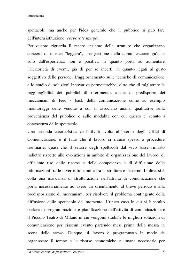 Anteprima della tesi: La comunicazione degli spettacoli dal vivo, Pagina 10