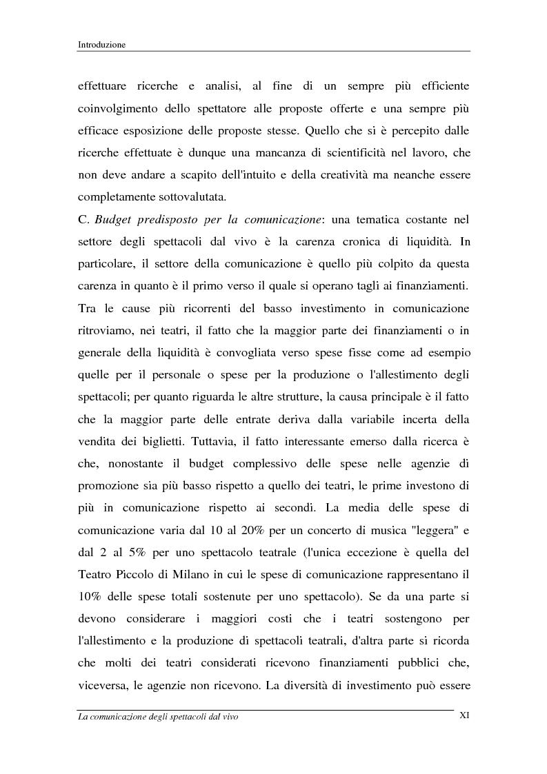 Anteprima della tesi: La comunicazione degli spettacoli dal vivo, Pagina 11