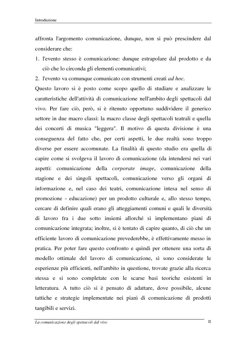 Anteprima della tesi: La comunicazione degli spettacoli dal vivo, Pagina 2