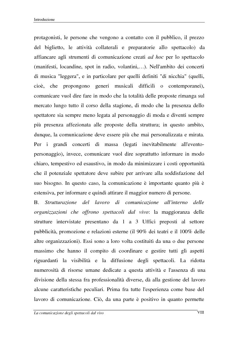 Anteprima della tesi: La comunicazione degli spettacoli dal vivo, Pagina 8