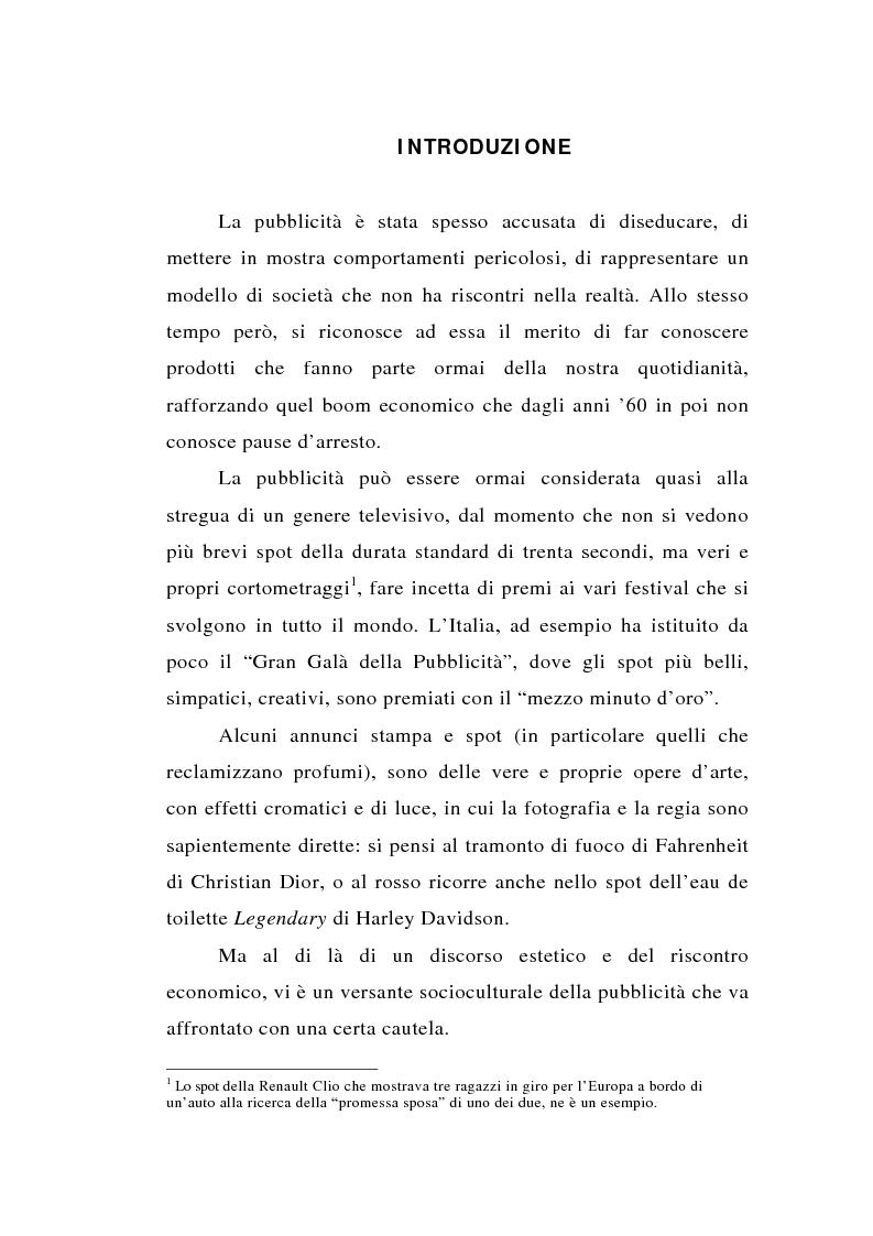 Anteprima della tesi: Dal bagno a dondolo alla jacuzzi: relax, fitness e vanità maschile nella comunicazione pubblicitaria, Pagina 1