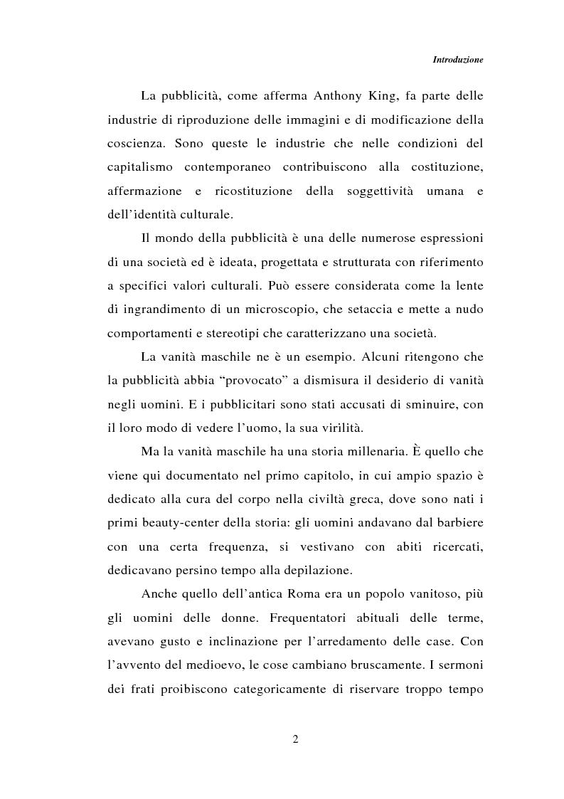 Anteprima della tesi: Dal bagno a dondolo alla jacuzzi: relax, fitness e vanità maschile nella comunicazione pubblicitaria, Pagina 2