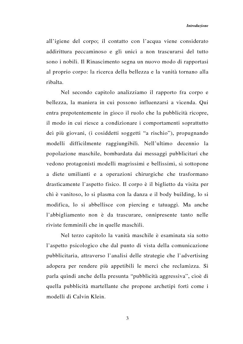 Anteprima della tesi: Dal bagno a dondolo alla jacuzzi: relax, fitness e vanità maschile nella comunicazione pubblicitaria, Pagina 3