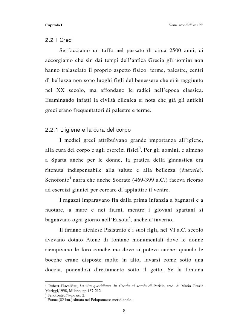 Anteprima della tesi: Dal bagno a dondolo alla jacuzzi: relax, fitness e vanità maschile nella comunicazione pubblicitaria, Pagina 8