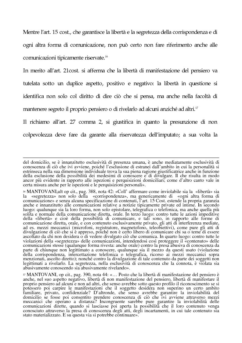 Anteprima della tesi: La tutela penale della privacy, Pagina 10