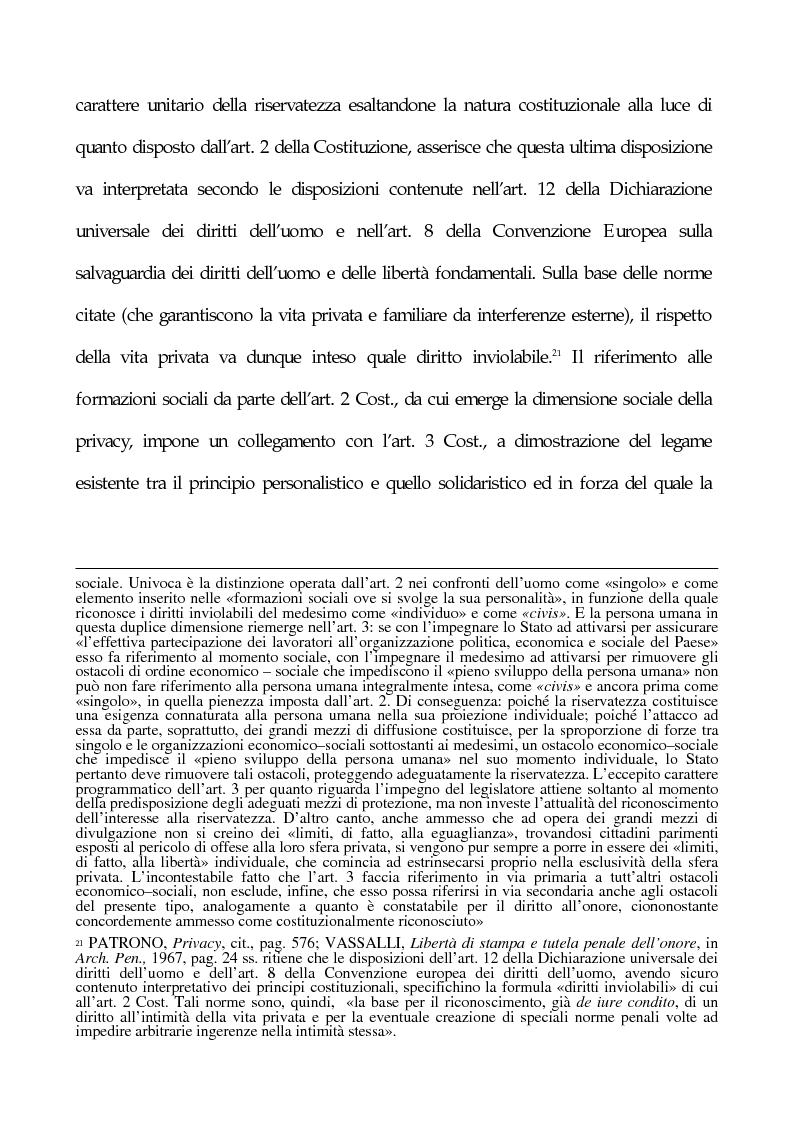 Anteprima della tesi: La tutela penale della privacy, Pagina 12