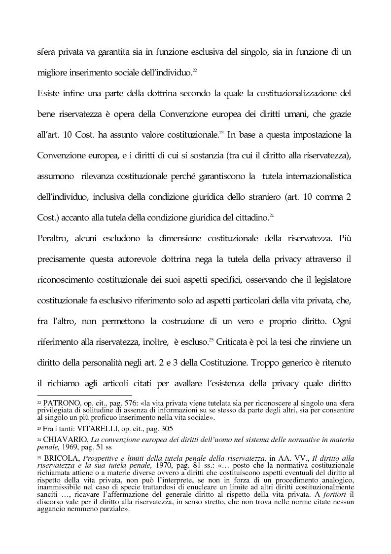 Anteprima della tesi: La tutela penale della privacy, Pagina 13