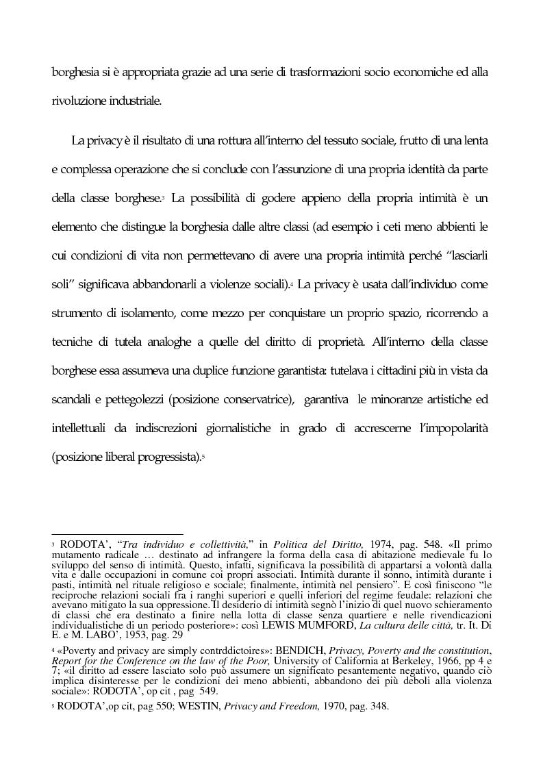 Anteprima della tesi: La tutela penale della privacy, Pagina 2