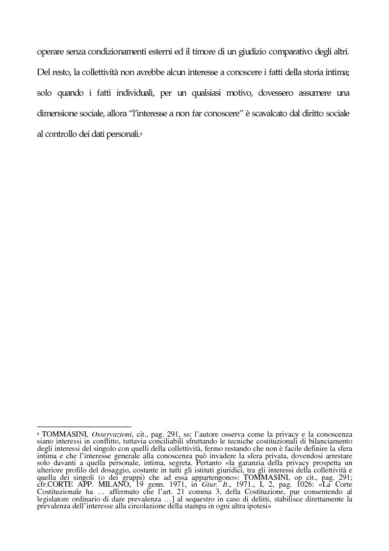 Anteprima della tesi: La tutela penale della privacy, Pagina 4