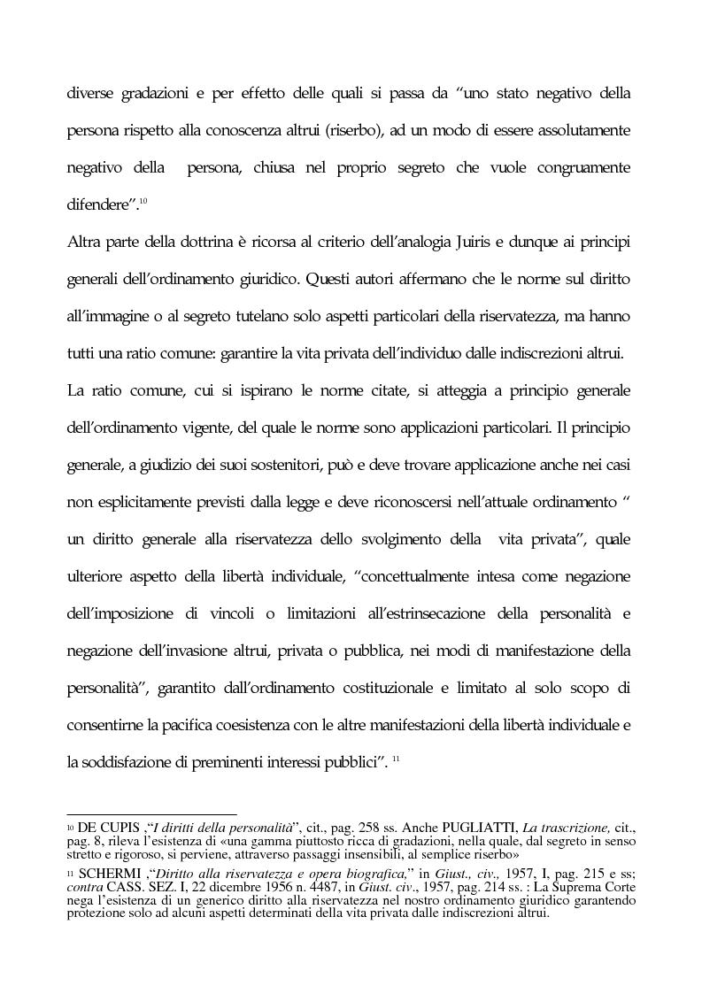 Anteprima della tesi: La tutela penale della privacy, Pagina 6