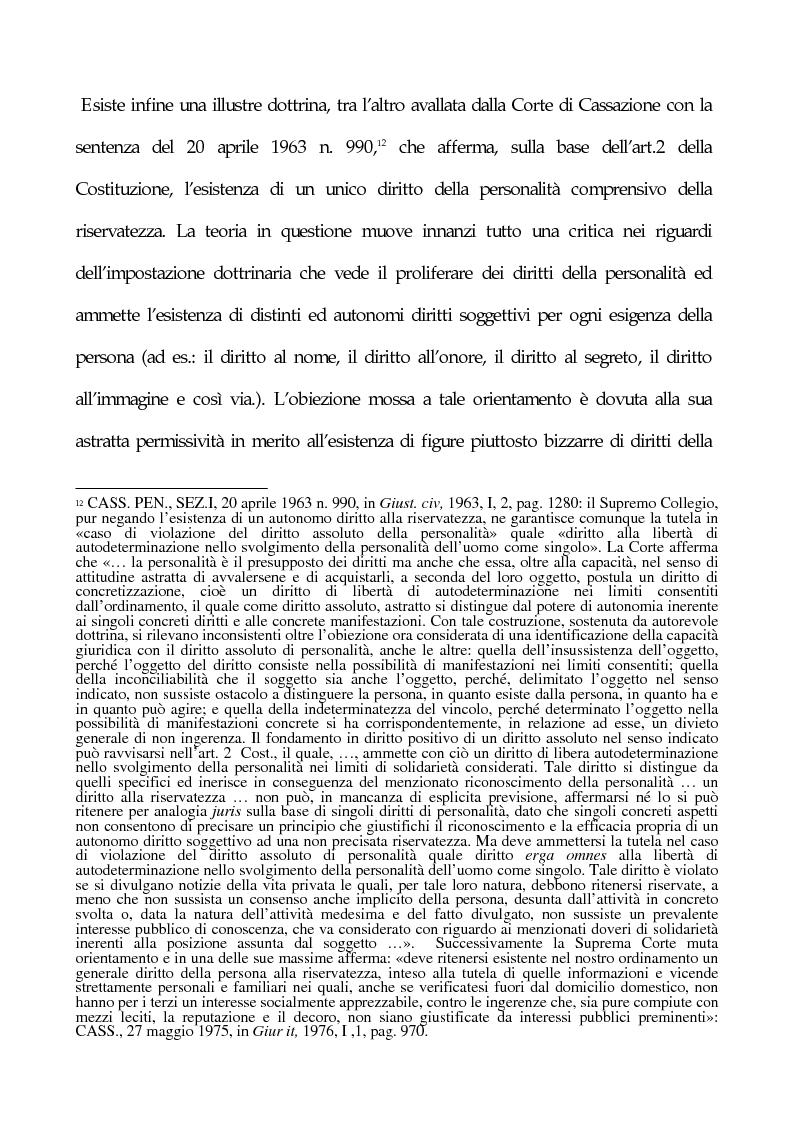 Anteprima della tesi: La tutela penale della privacy, Pagina 7