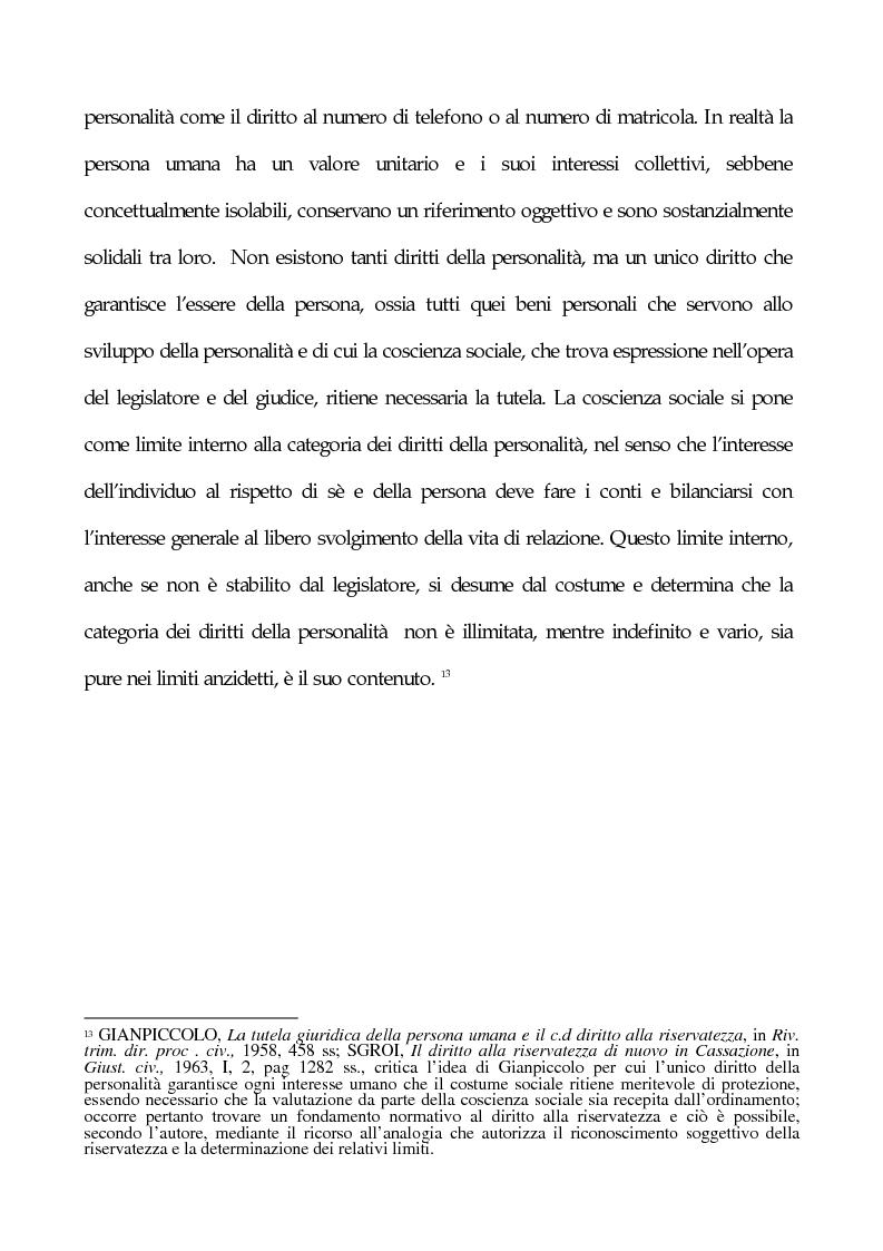 Anteprima della tesi: La tutela penale della privacy, Pagina 8