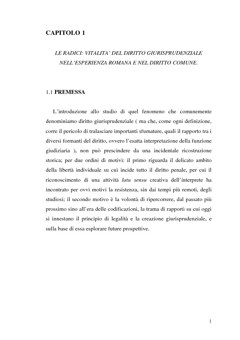 Anteprima della tesi: Influssi giurisprudenziali sull'evoluzione del diritto penale, Pagina 1