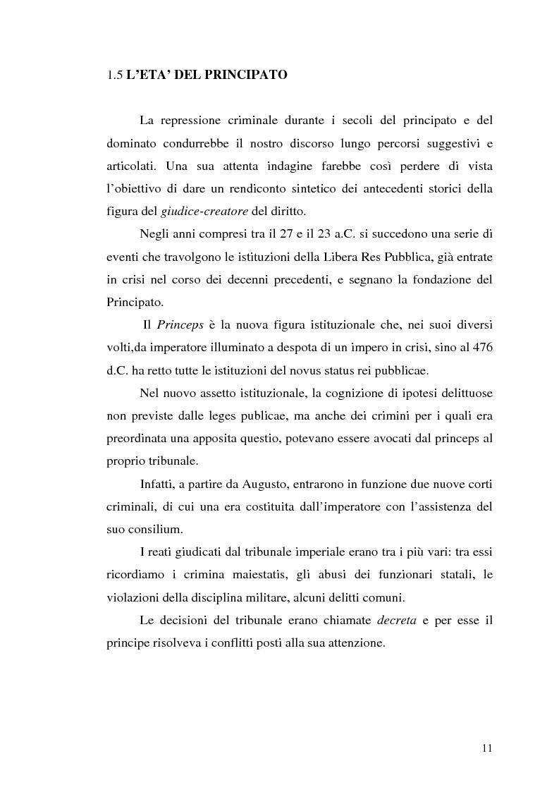 Anteprima della tesi: Influssi giurisprudenziali sull'evoluzione del diritto penale, Pagina 11