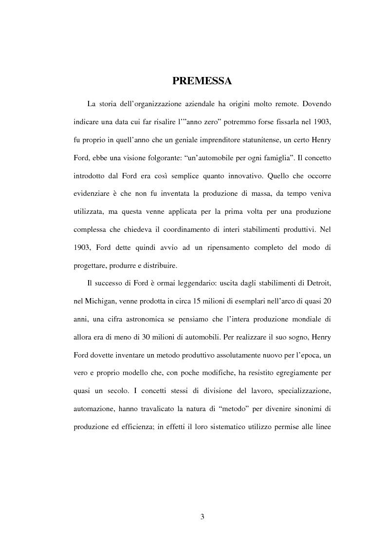Anteprima della tesi: Il Business Process Re-Engineering: un caso nella Pubblica Amministrazione, Pagina 1