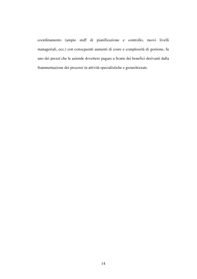 Anteprima della tesi: Il Business Process Re-Engineering: un caso nella Pubblica Amministrazione, Pagina 12