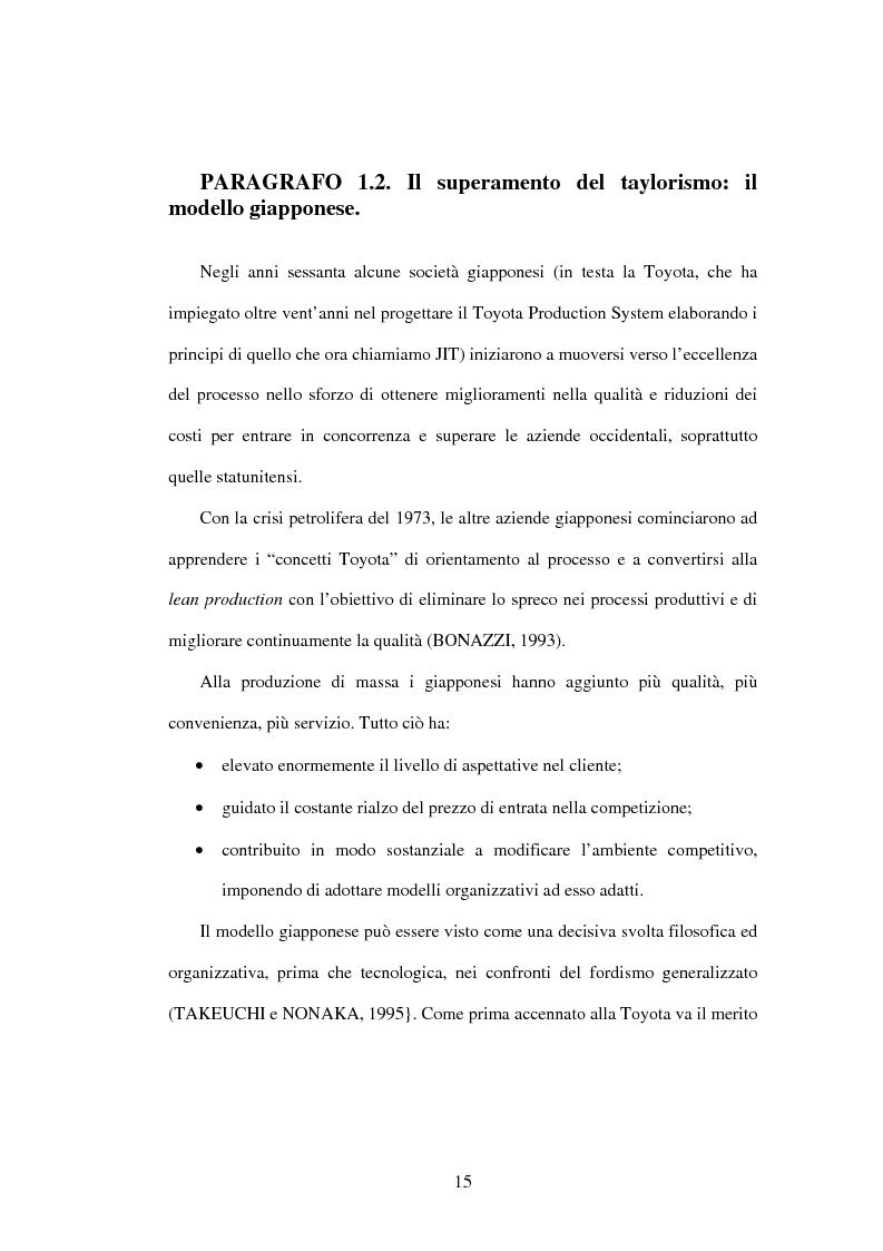 Anteprima della tesi: Il Business Process Re-Engineering: un caso nella Pubblica Amministrazione, Pagina 13