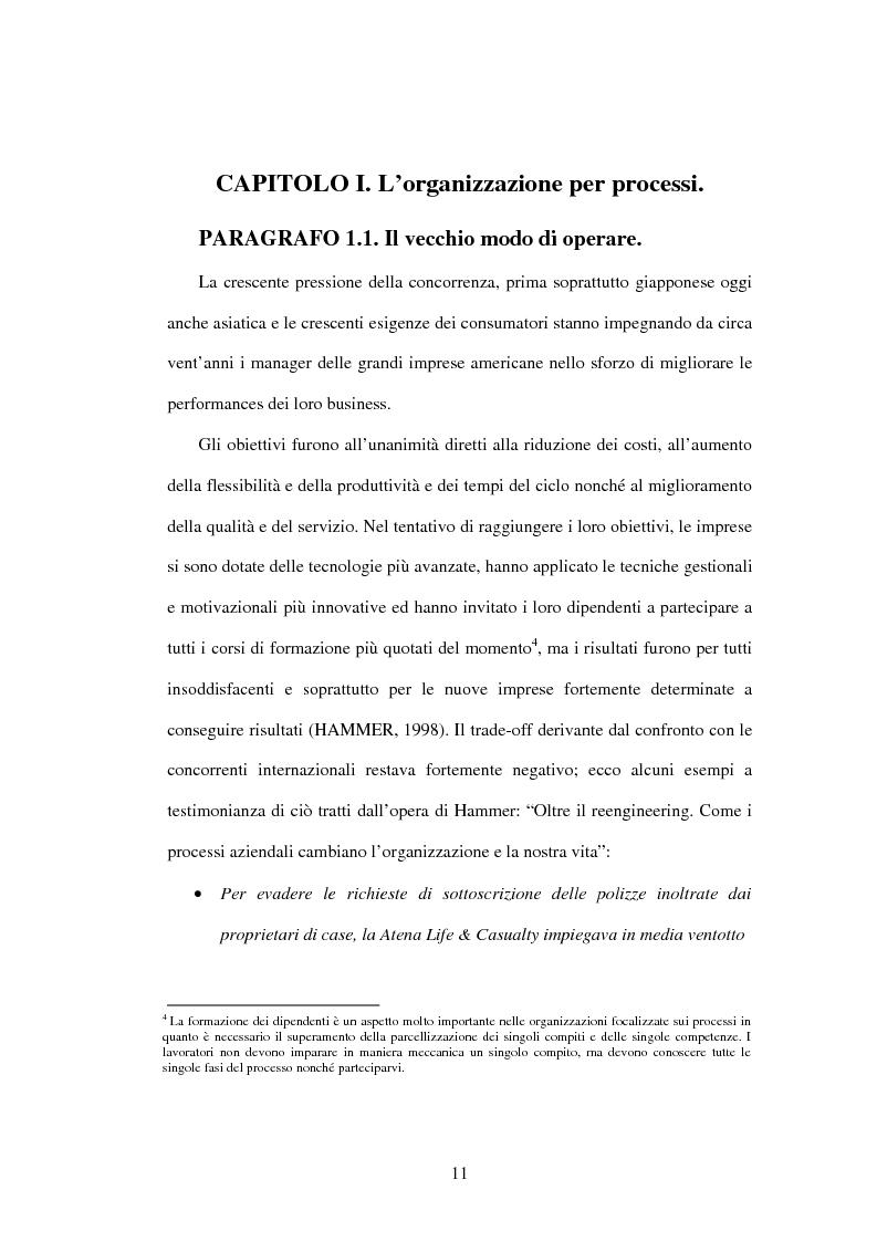 Anteprima della tesi: Il Business Process Re-Engineering: un caso nella Pubblica Amministrazione, Pagina 9