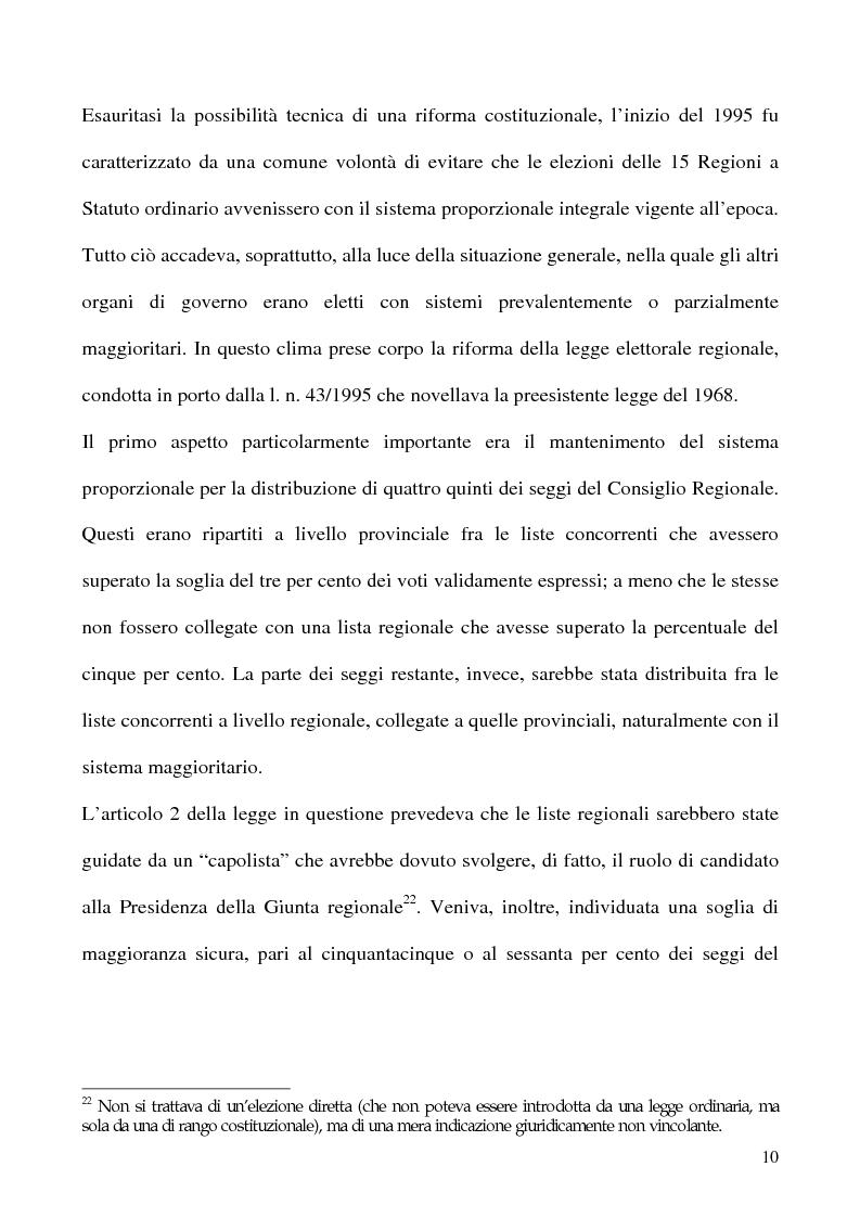 Anteprima della tesi: La potestà statutaria: il caso Calabria, Pagina 10