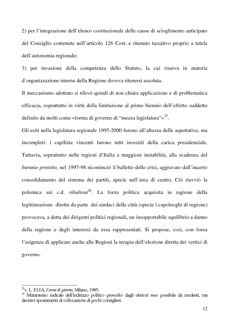Anteprima della tesi: La potestà statutaria: il caso Calabria, Pagina 12