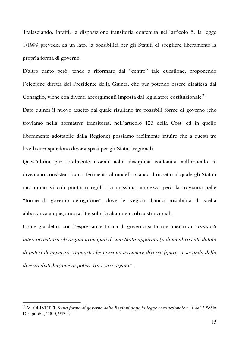 Anteprima della tesi: La potestà statutaria: il caso Calabria, Pagina 15