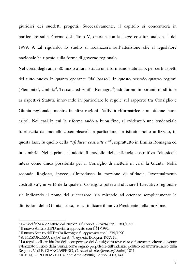 Anteprima della tesi: La potestà statutaria: il caso Calabria, Pagina 2