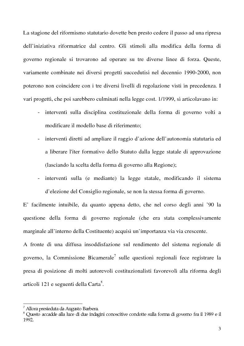 Anteprima della tesi: La potestà statutaria: il caso Calabria, Pagina 3