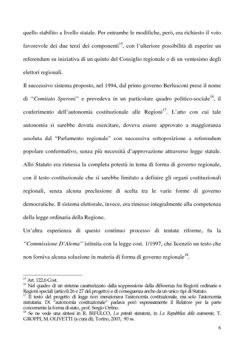 Anteprima della tesi: La potestà statutaria: il caso Calabria, Pagina 6