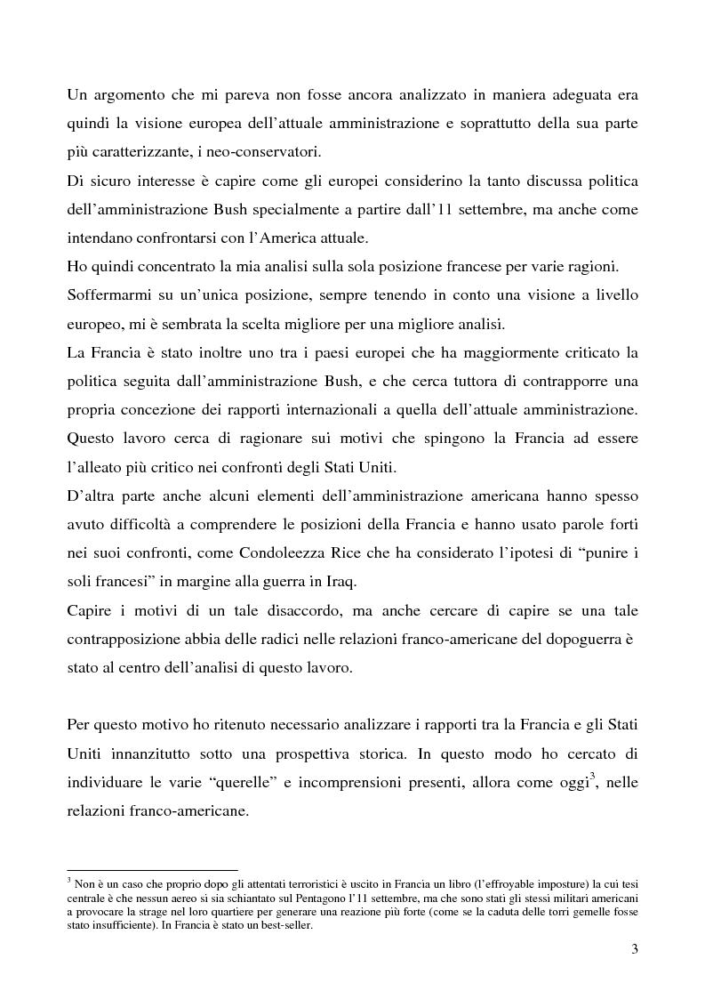 Anteprima della tesi: L'immagine degli Stati Uniti in Francia dopo l'11 settembre, Pagina 3