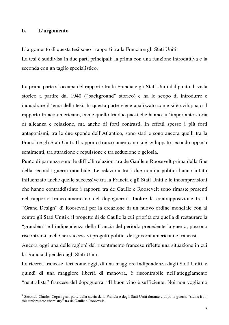 Anteprima della tesi: L'immagine degli Stati Uniti in Francia dopo l'11 settembre, Pagina 5