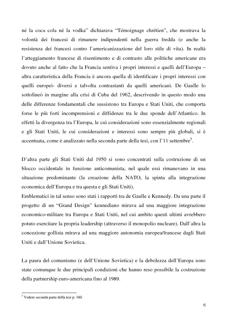 Anteprima della tesi: L'immagine degli Stati Uniti in Francia dopo l'11 settembre, Pagina 6
