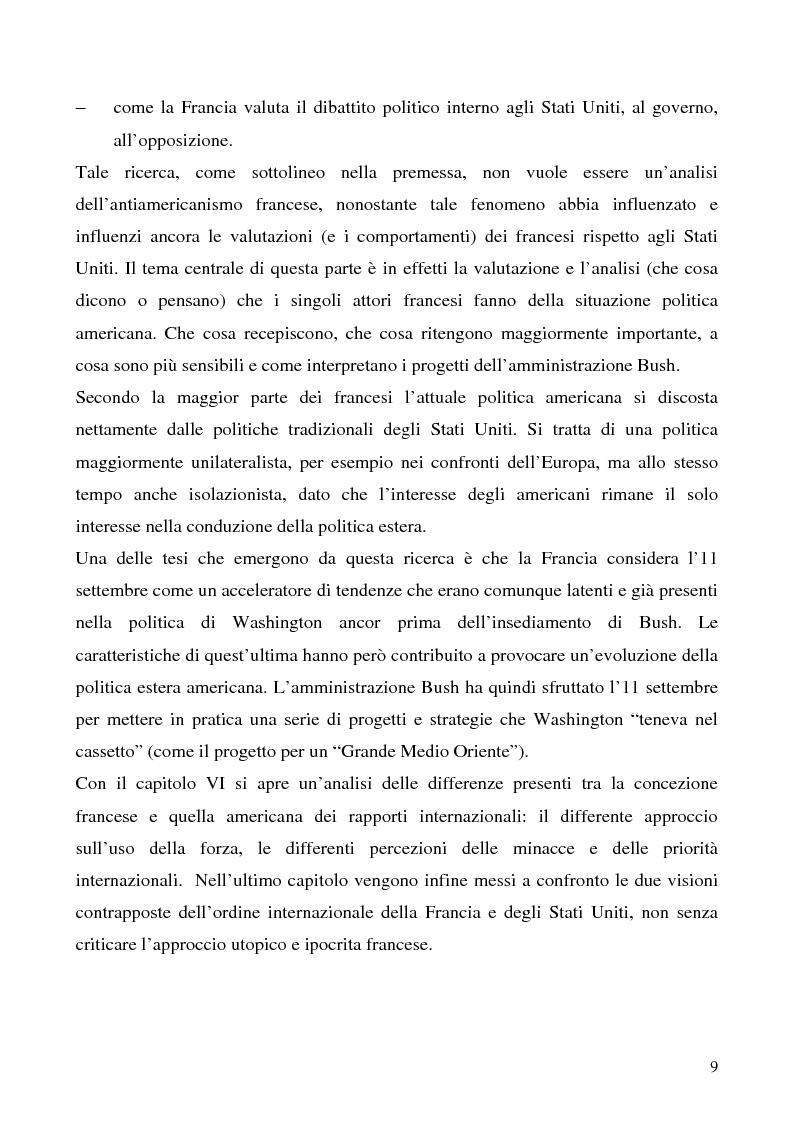 Anteprima della tesi: L'immagine degli Stati Uniti in Francia dopo l'11 settembre, Pagina 9