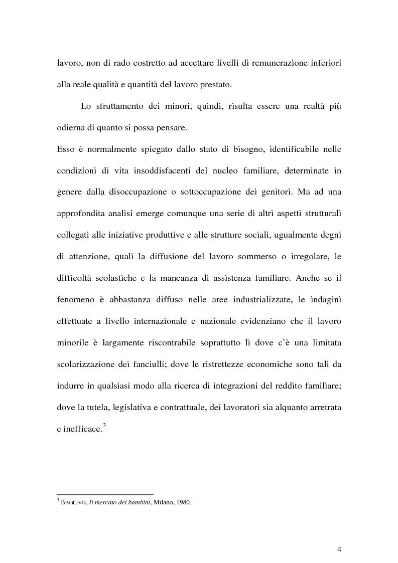 Anteprima della tesi: Il Lavoro dei minori e l'Apprendistato, Pagina 3