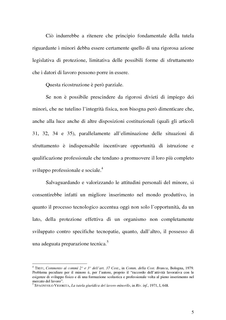 Anteprima della tesi: Il Lavoro dei minori e l'Apprendistato, Pagina 4