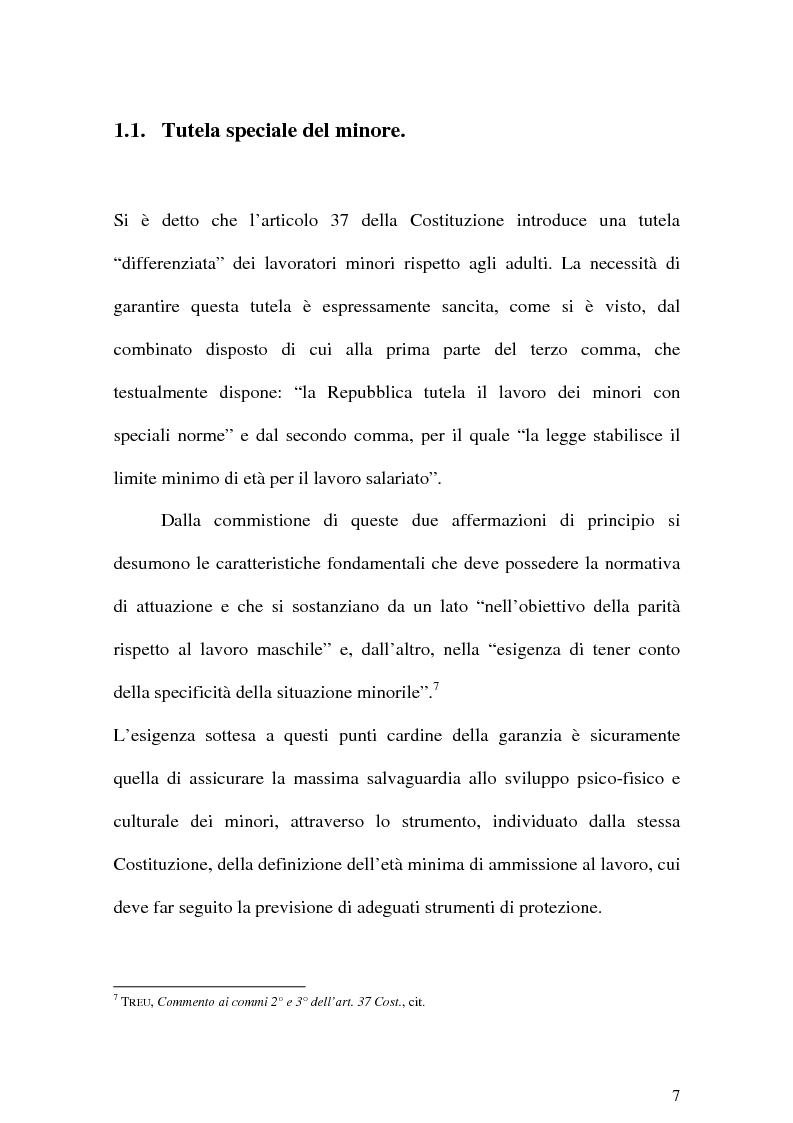 Anteprima della tesi: Il Lavoro dei minori e l'Apprendistato, Pagina 6