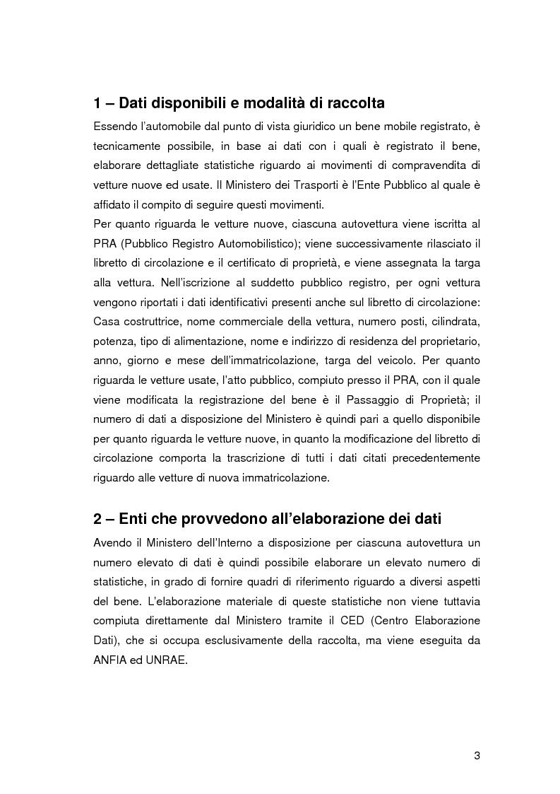 Anteprima della tesi: Analisi delle dinamiche del mercato dell'auto dal 1989 al 2002, Pagina 3